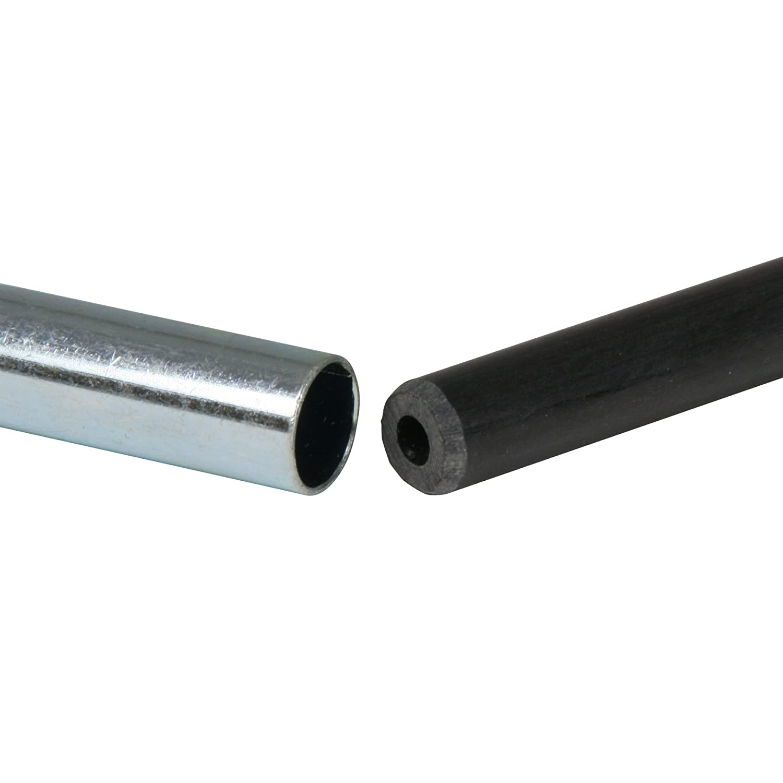 65x1,27 cm Colore: Nero Set di paletti in Fibra di Vetro per Tenda SPK 127 10T