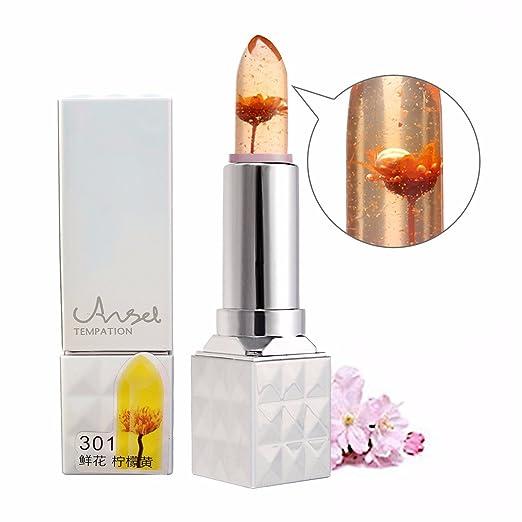13 opinioni per Balsamo per le labbra, LucjyFine 8 colori dei fiori gelatina Rossetto/ Lip