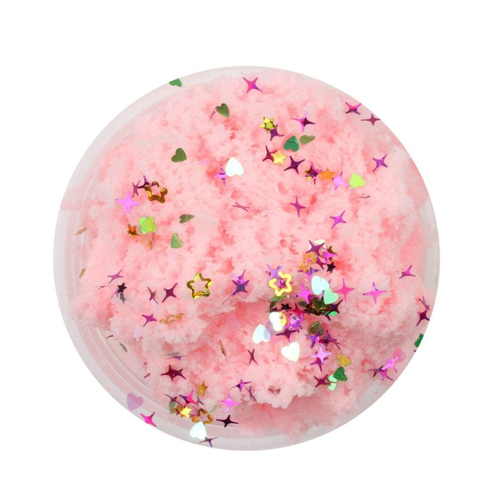 60ml Fluffy Slime Clay Toy - DIY Cloud Slime Squishy Putty Scented Stress Art Craft for Home/School - Best Gift for Adults and Children (8+) (Pink) by FreshZone (Image #1)