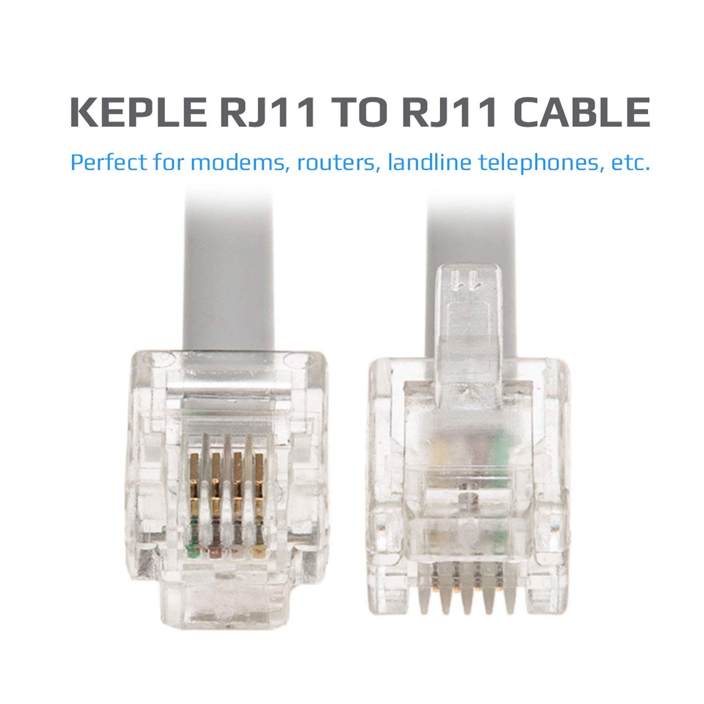 Blanc Microfiltre 10m RJ11 C/âble de Rallonge ADSL Cordon Internet Haute Vitesse BT Large Bande M/âle vers M/âle Routeur et Modem vers RJ11 Prise T/él/éphonique Fil de Ligne Terrestre