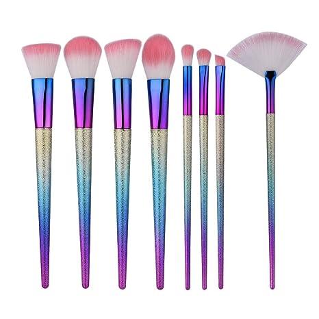 PAWACA Premium One Set 8 pcs juego de cepillo de maquillaje Fundación Face Powder Blush Pinceles