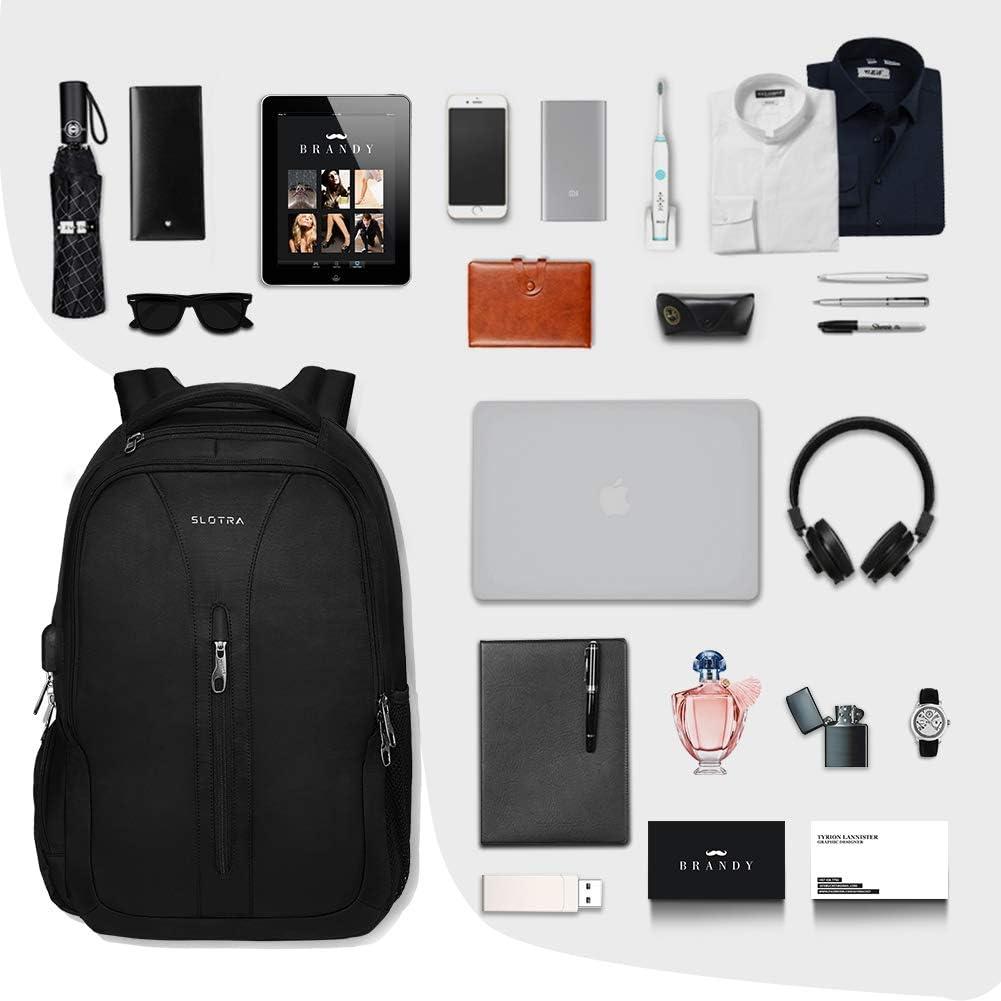 Borsa per Computer Aziendale da 15,6 Pollici con Porta di Ricarica USB Zaino antifurto per Scuola Universitaria per Uomo Donna SLOTRA Zaino per Laptop da Viaggio
