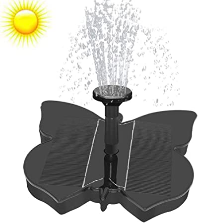 Butterfly Bath Fountain Solar Powered Water Pump Floating Outdoor Pond Garden
