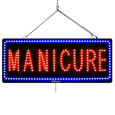 Amazon.com: Letreros LED de fábrica para uñas.: Office Products