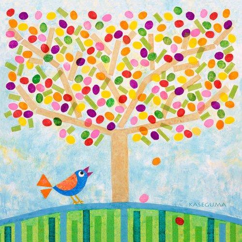 Oopsy Daisy Canvas Wall Art Jellybean Tree by Gale Kaseguma,