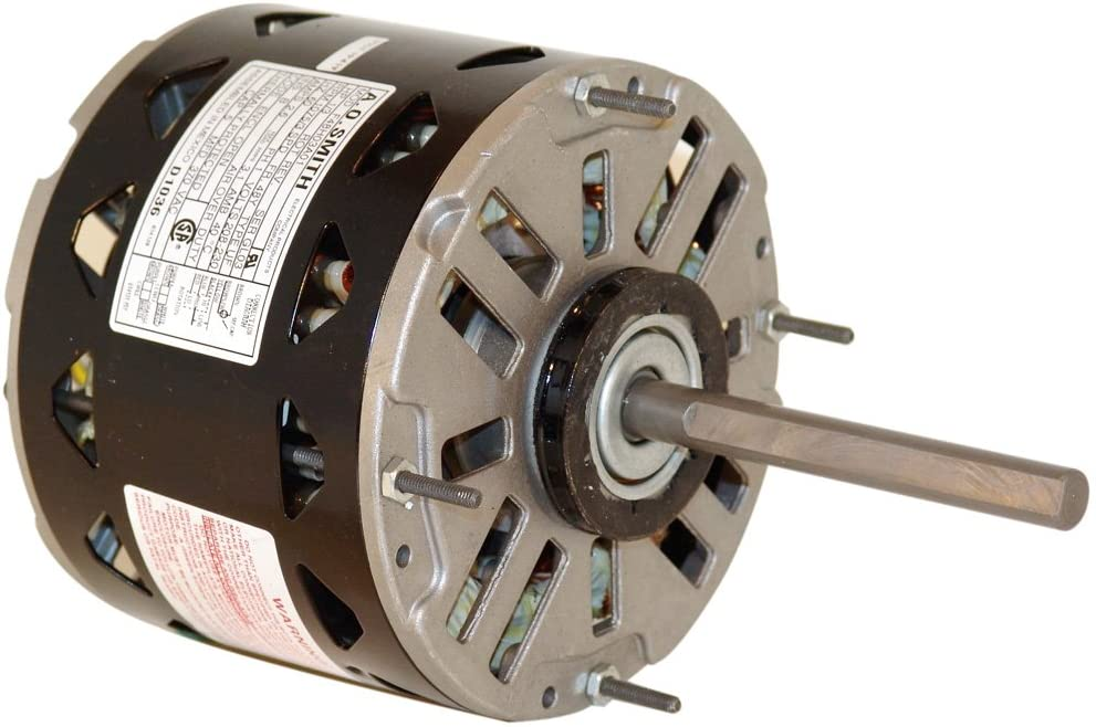 A.O. Smith DL007 3/4 HP, 1075 RPM, 2 Speed, 115 Volts8.9 Amps, 48 Frame, Sleeve Bearing Direct Drive Blower Motor