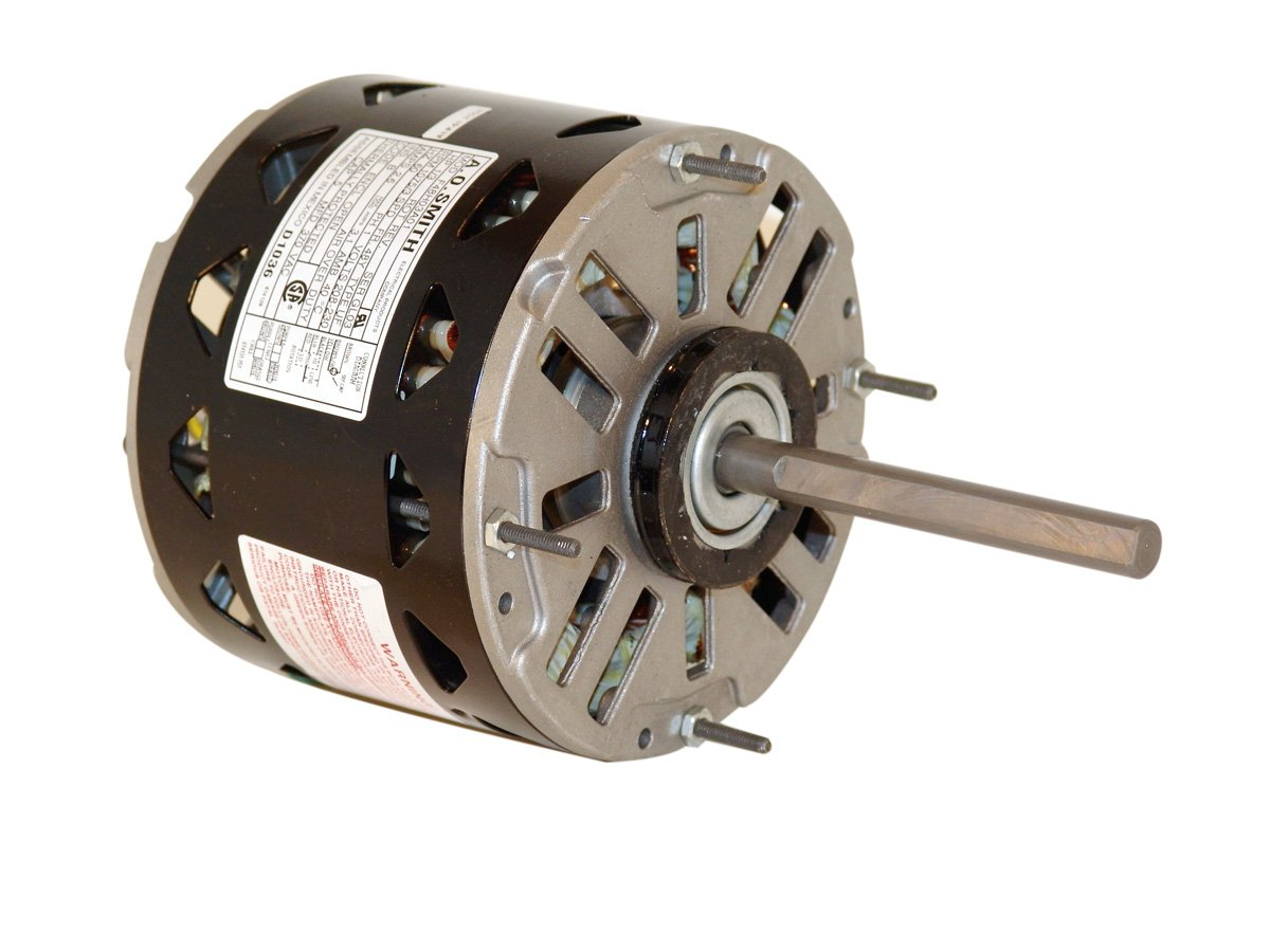 A.O. Smith DL1026 1/4 HP, 1075 RPM, 3 Speed, 115 Volts3.5 Amps, 48 Frame, Sleeve Bearing Direct Drive Blower Motor