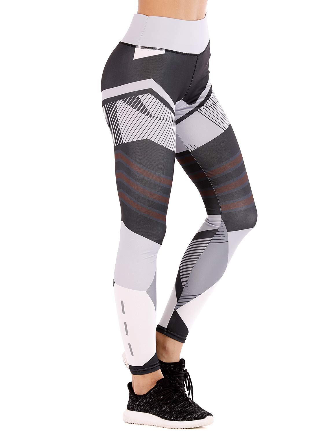 GoLoveY High Waist Yoga Pants Women Capris Printed Leggings Sport Tights Running