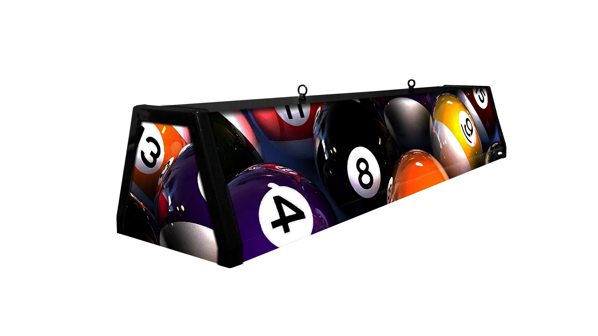 44'' Acrylic Pool Table Light, Rack'em Up