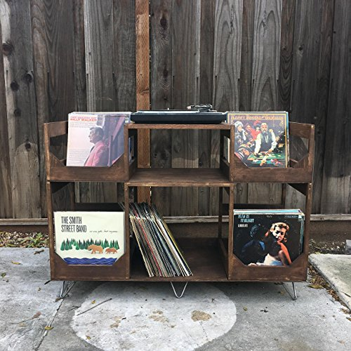 (Deluxe Vinyl Display Turn Table Station // Stylishly and Conveniently Display and Spin your Collection of Up to 400 12inch Records //)