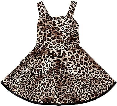 Amazon.com: Xiaodriceee Toddler Baby Girl Leopard Dress Kids Cheetah Print  Sleeveless Backless Ruffle Tutu Party Dresses Skirts Outfits: Clothing