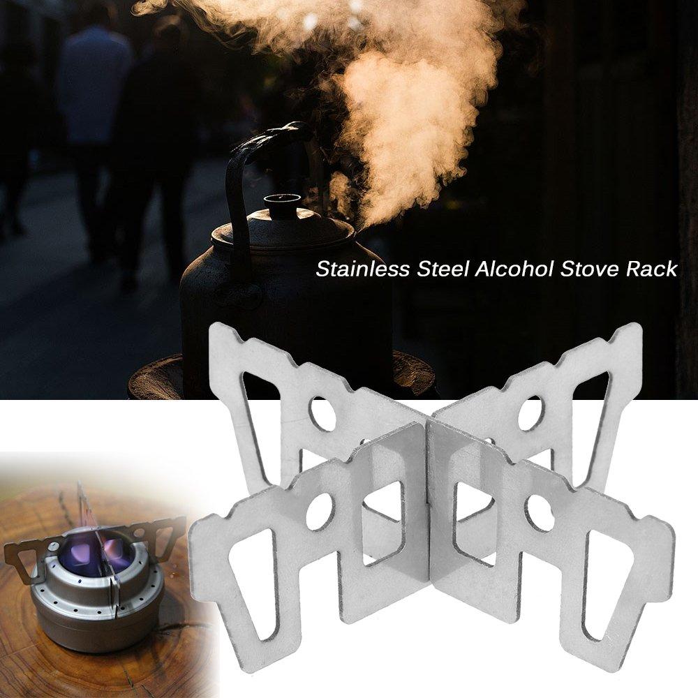 Soporte de titanio de hornillo de alcohol de Lixada, soporte en ...