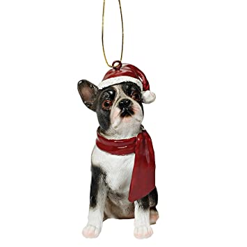 christmas ornaments xmas boston terrier holiday dog ornaments
