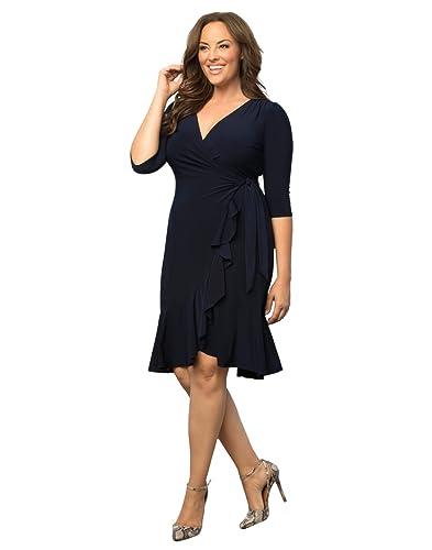 Kiyonna Women's Plus Size Whimsy Wrap Dress