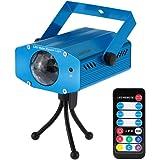 Lixada 10W Mini LED Lámpara de Luz de Escenario Efecto de Ondulación con Controlador para Disco KTV Club Fiesta Casa Entretenimiento
