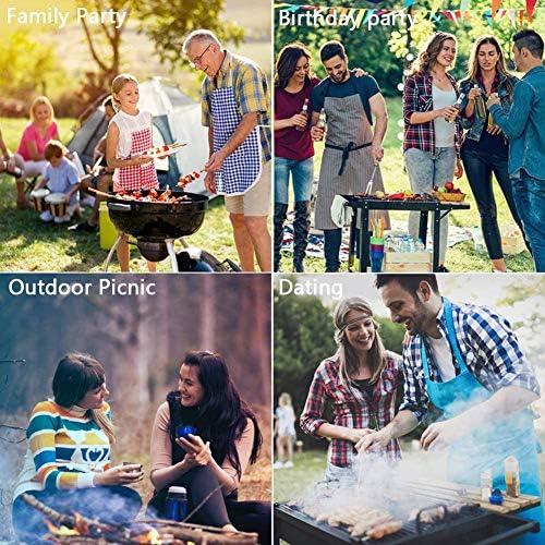 NZHK Lot de 3 ustensiles de barbecue robustes en acier inoxydable