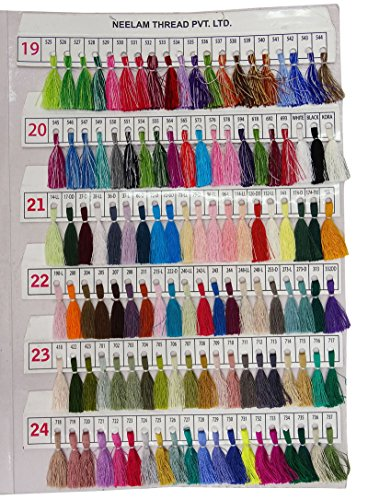 Telephone Threads Azo Free Viscose Rayon Embroidery Thread Shade Card - 480 Color Chart by Telephone Threads (Image #5)
