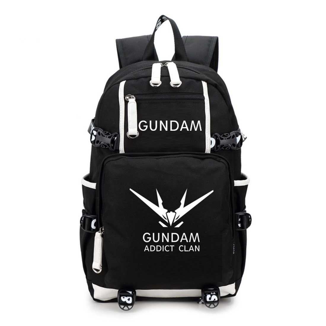 YOYOSHome Luminous Japanese Anime Cosplay Bookbag College Bag Backpack School Bag (Mobile Suit Gundam)