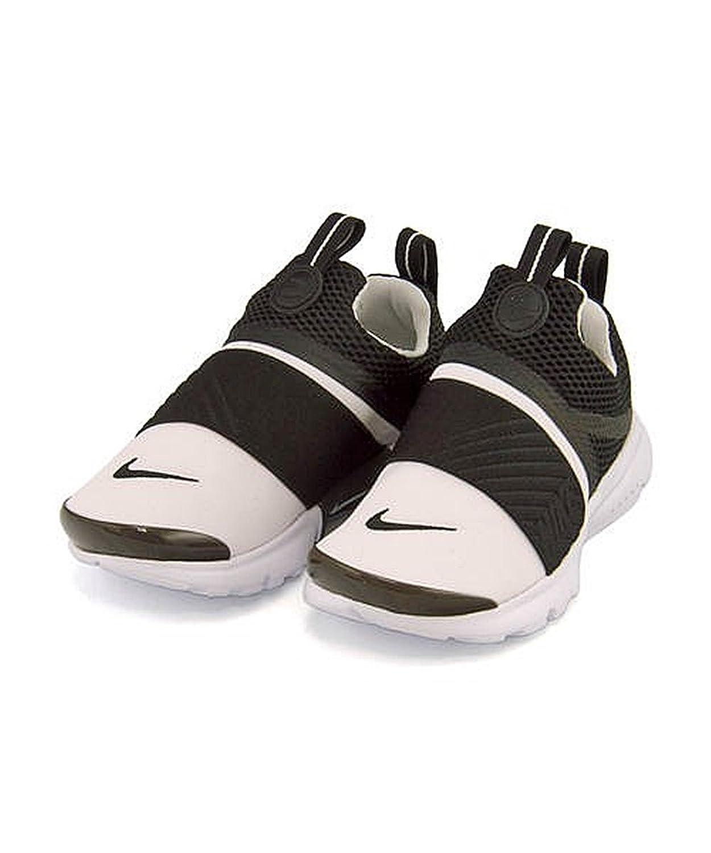 [ナイキ] NIKE 女の子 男の子 キッズ 子供靴 運動靴 通学靴 スリッポン スニーカー プレスト エクストリーム PS 軽量 クッション性 通気性 PRESTO EXTREME PS 870023 ホワイト/ブラック 17.0cm
