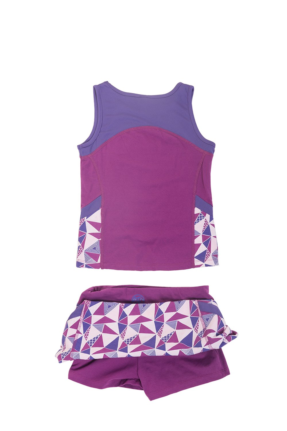 Girls Tennis & Golf Tank and Skirt Set with Built in Shorts Sparkaling Grape/Purple Size L
