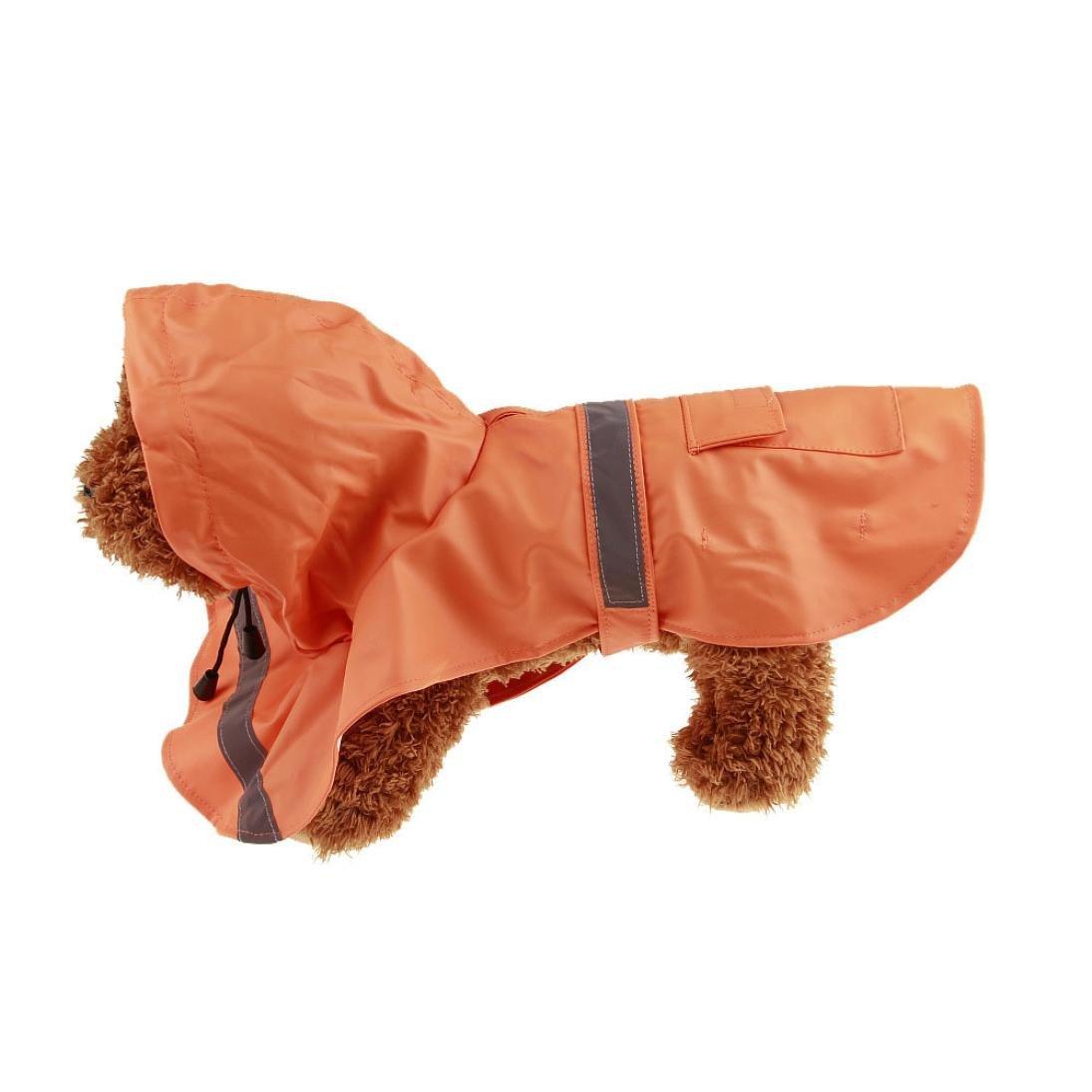 Hunpta pour animal domestique Chien Vêtements de pluie étanche extérieur étanche imperméable à capuche Manteau pour femme