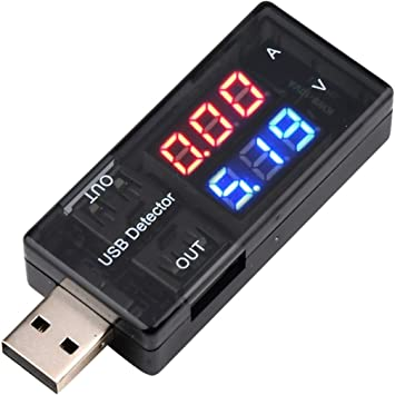 Plug /& Play USB Current Voltage Test Detector Voltmeter Ammeter Measuring Tester