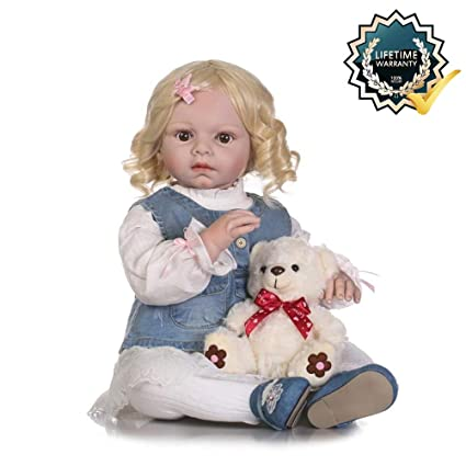 12b4b5aa8d0 Image Unavailable. Image not available for. Color  Binxing Toys 28in Reborn  Toddler 70cm Realistic Baby Dolls Silicone ...