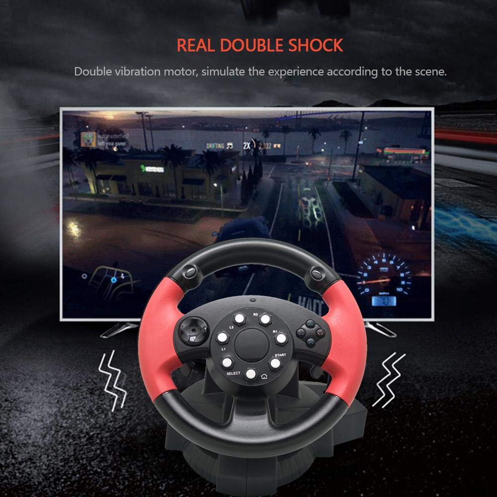 TODAYTOP for FT33 Series 200° Rotation Angle Game Steering Wheel Racing Wheel Dual Motor Vibration for PS 3/PS 2/PC (D-Input/X-Input/Steam by TODAYTOP (Image #4)