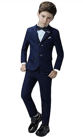 ed4bbecce298 Amazon.com  Insun Boys  Slim Fit Dress Suit Set Formal Occasion Wear ...
