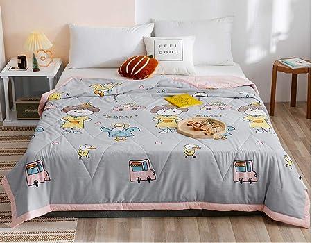 XNSY Doble Cara Manta de algodón Lavable de Verano para sofá-Gris_180x220cm: Amazon.es: Hogar