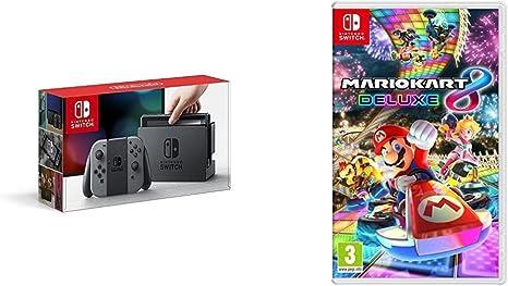 Nintendo Switch - Consola Color Gris + Mario Kart 8 Deluxe: Amazon.es: Videojuegos
