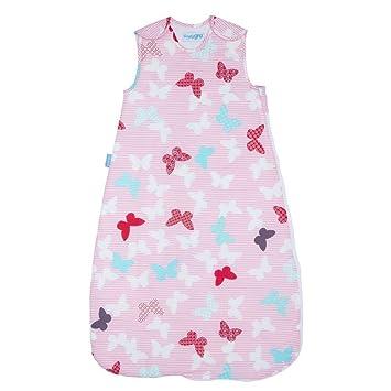 Saco de dormir Grobag (gama de saco simple) - Mariposa 2,5 tog (6 - 18 meses): Amazon.es: Bebé
