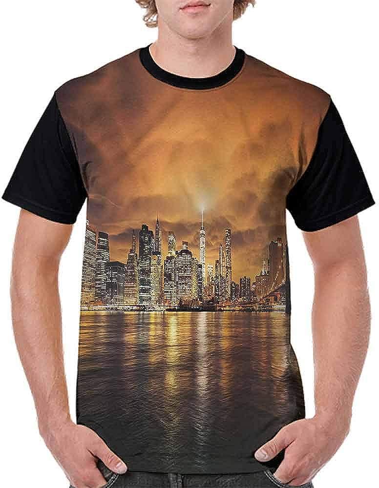 Fashion T-Shirt,Manhattan at Sunset Fashion Personality Customization