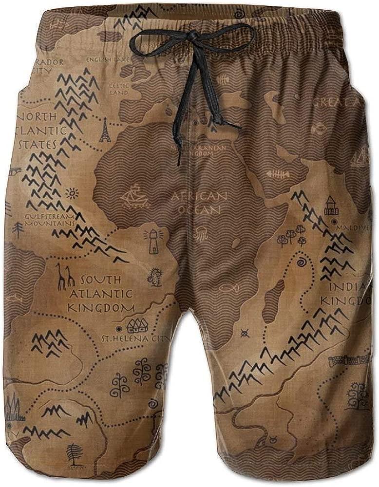 KAKICSA Beach Yoga Pants, World Map Vintage Yoga Workout ...
