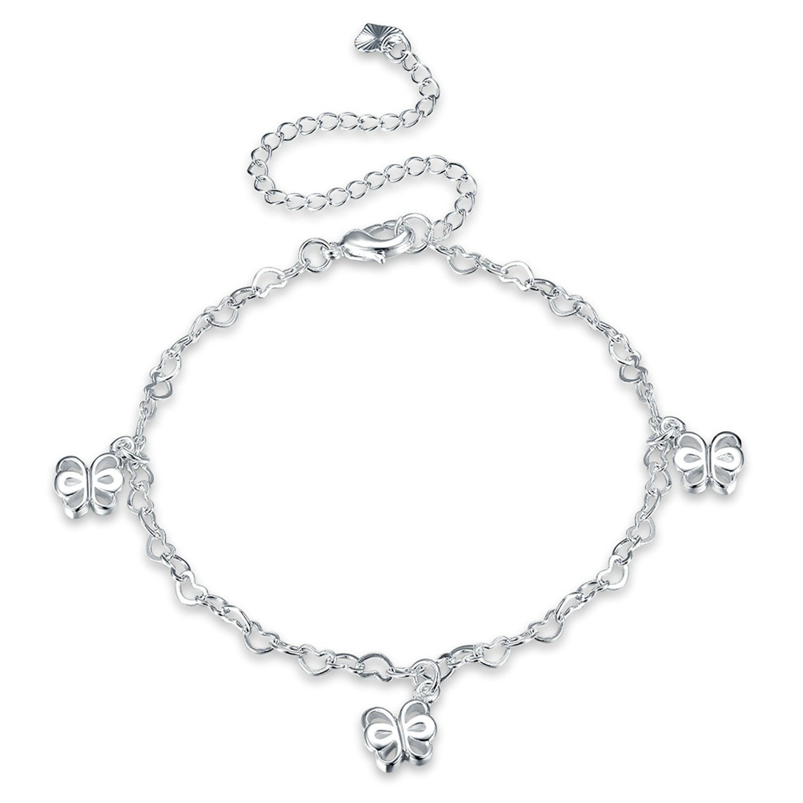 Bishilin Beach Anklets Wedding Heart Butterfly anklet chain 20 CM