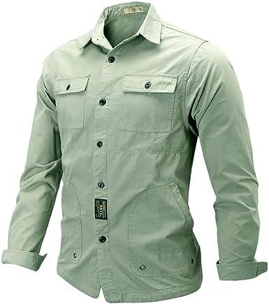 Blusa de Manga Larga para Hombre, Estilo Militar, de Hupoop ...