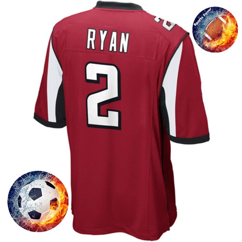 Fabric Fit Kurzarmhemden Herren/Damen Ryan NO.2 Falcons Fans Sportkleidung T-Shirt Atmungsaktiv Fußballtrikots Schnell Trocken Jersey Heimtrikot