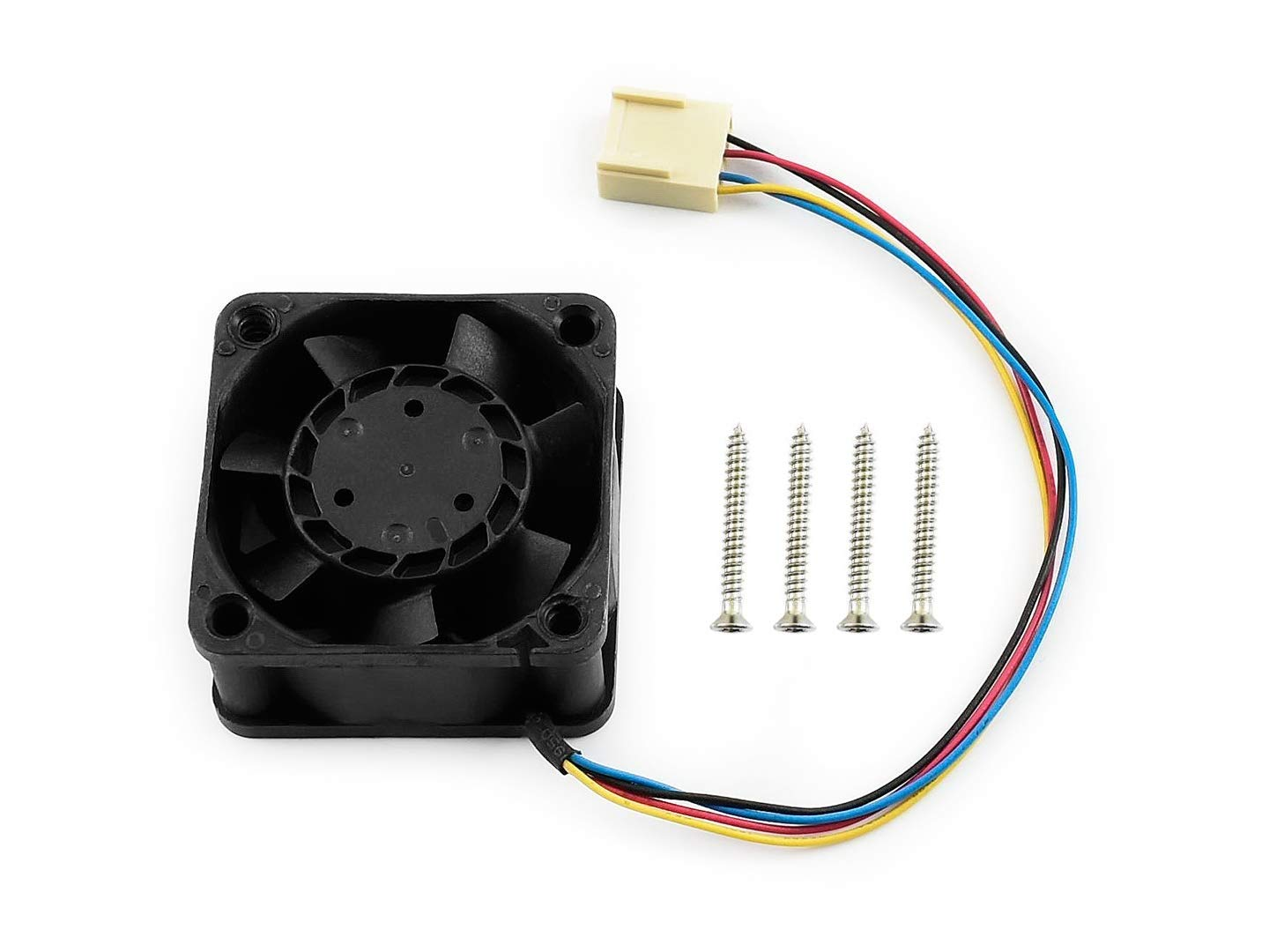 Dedicated DC 5V Cooling Fan for NVIDIA Jetson Nano Developer Kit PWM Speed Adjustment Strong Cooling Air Fan 40mm×40mm×20mm with 4PIN Reverse-Proof Connector