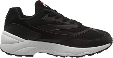 Fila Womens Venom Low Leather Textile Trainers