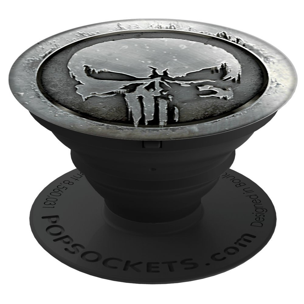 PopSockets: Collapsible Grip and Stand for Phones and Tablets - Marvel - Punisher MonoChrome by PopSockets (Image #1)