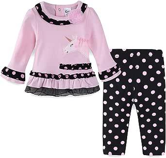 LittleSpring Baby Girls' Pants Set 2 Pcs Suit