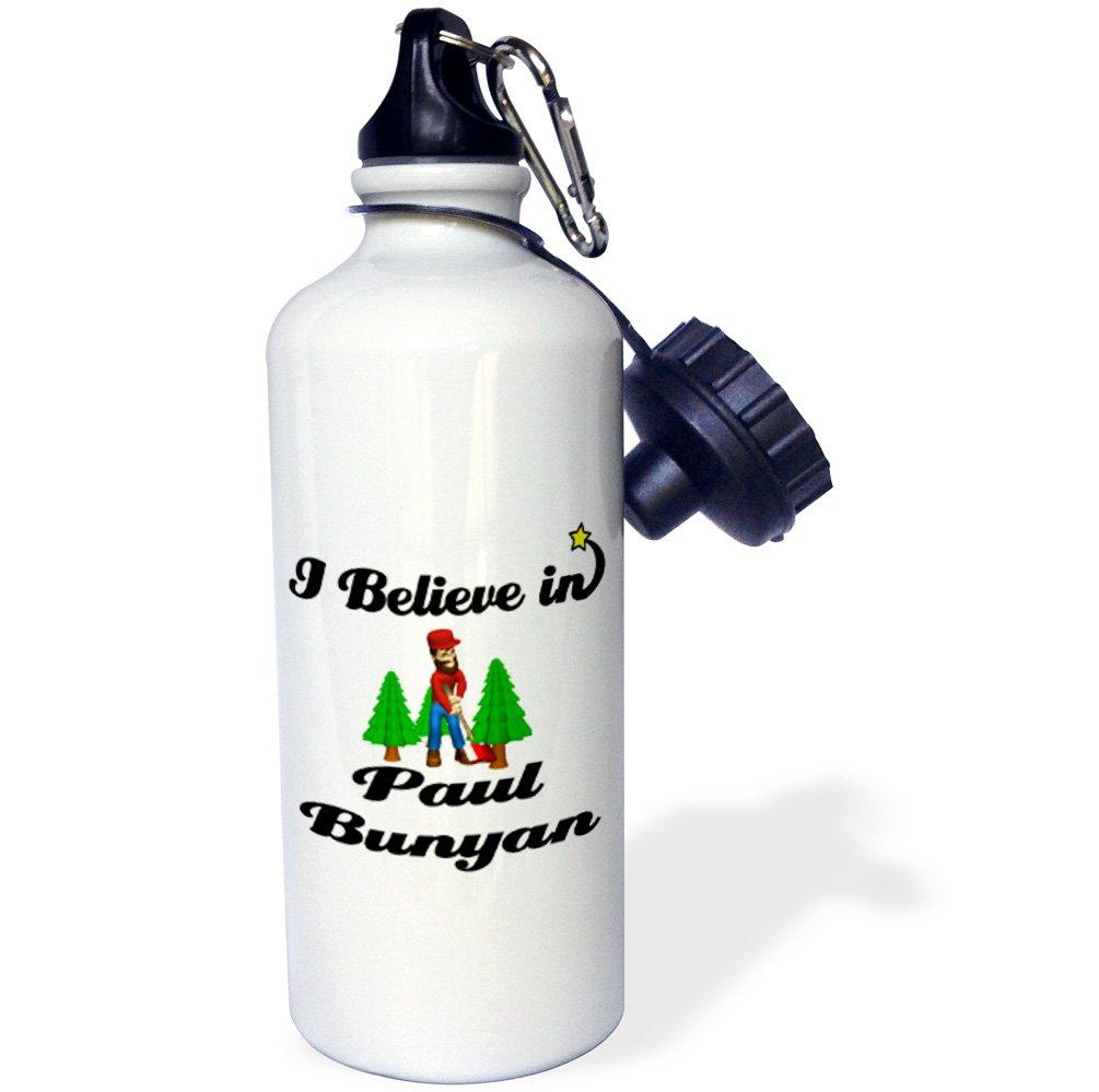 3dRose wb/_105435/_1I Believe In Paul Bunyan Sports Water Bottle 21 oz Natural