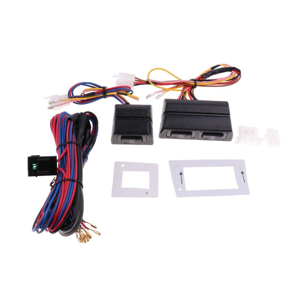 D DOLITY 1 Kit Universal-Fensterheberschalter Kompletter Kabelbaum Und Halter Kit, Direkt Ersatz Kit