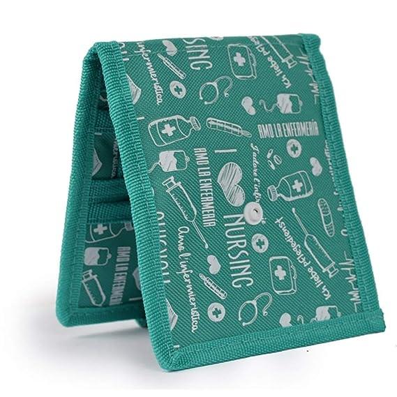 Organizador auxiliar de enfermería | Keens de Elite Bags | Para bata o pijama | Diseño exclusivo con estampados en color verde