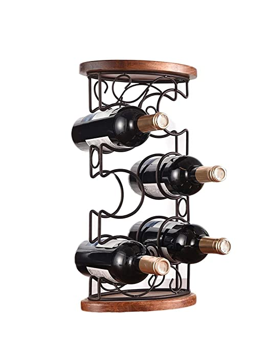 Wp-cfj Botellero Vino Madera, Botellero 6 Botellas, Adornos para ...