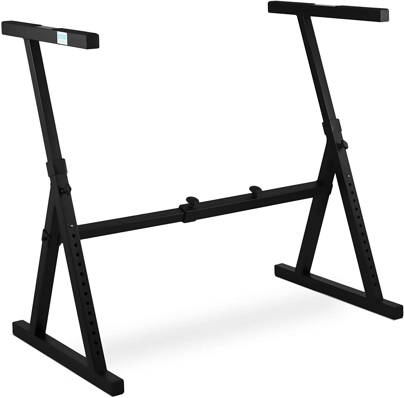 GeeWin Single-X Keyboard Stand Adjustable Electronic Piano Stand 7 Lockable Heights With Locking Straps