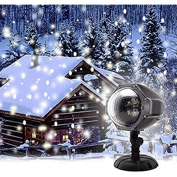 Amazon Com Gaxmi Led Christmas Projector Lights Snowfall