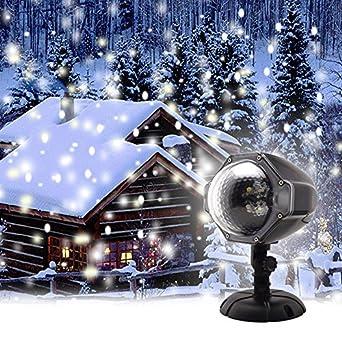 GAXmi Christmas Projector Light LED Snow Falling Night ...