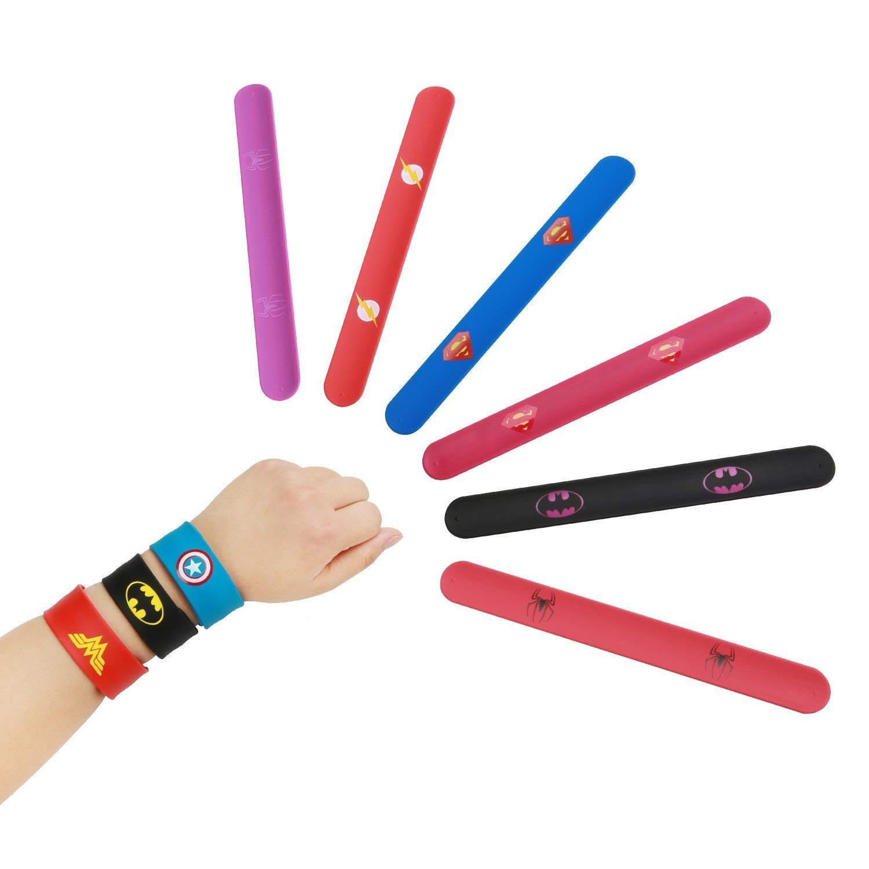 10pcs Slap Bracelets pour Enfants Slap Bracelets Cadeau pour F/ête danniversaire Invited Style 1 SouthStar Bracelets pour Enfants