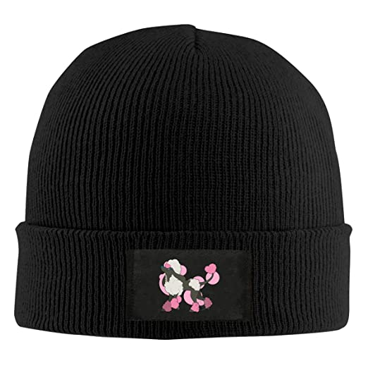 Mens Womens Beanie Cap Poodle Dog Pink Watch Hat Winter Warm Knit Skull Hat  Cap Black at Amazon Men s Clothing store  409ce170a